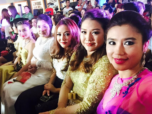 Thet Mon Myint Snap Shots on Shwe Nan Daw Gmes & Jewelry New Shop Opening Day