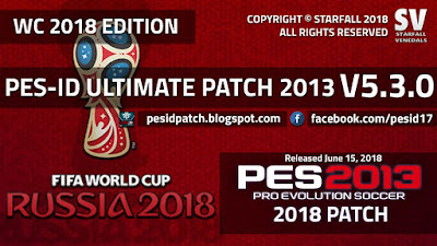 PES 2013 PES-ID Ultimate Patch Update v5.3.0 World Cup 2018 Edition