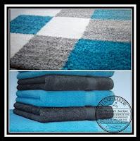 De inspiratiefoto in de kleuren antraciet-grijs en turquoise. The inspiration photo in the colors anthracite-grey and turquoise.