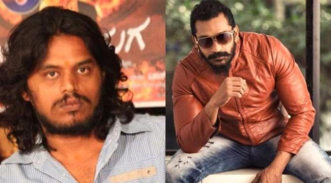 Two Indian stuntmen have drowned after they jumped into a reservoir as part of a film shoot near Bangalore in south of the country