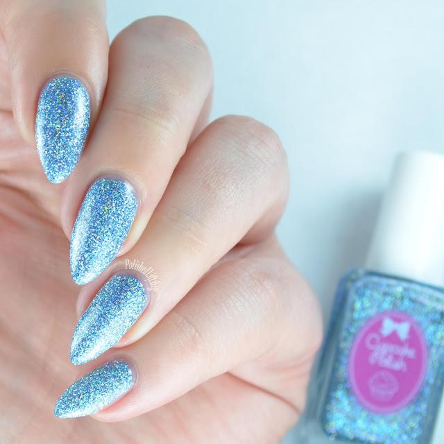 blue holographic nail polish