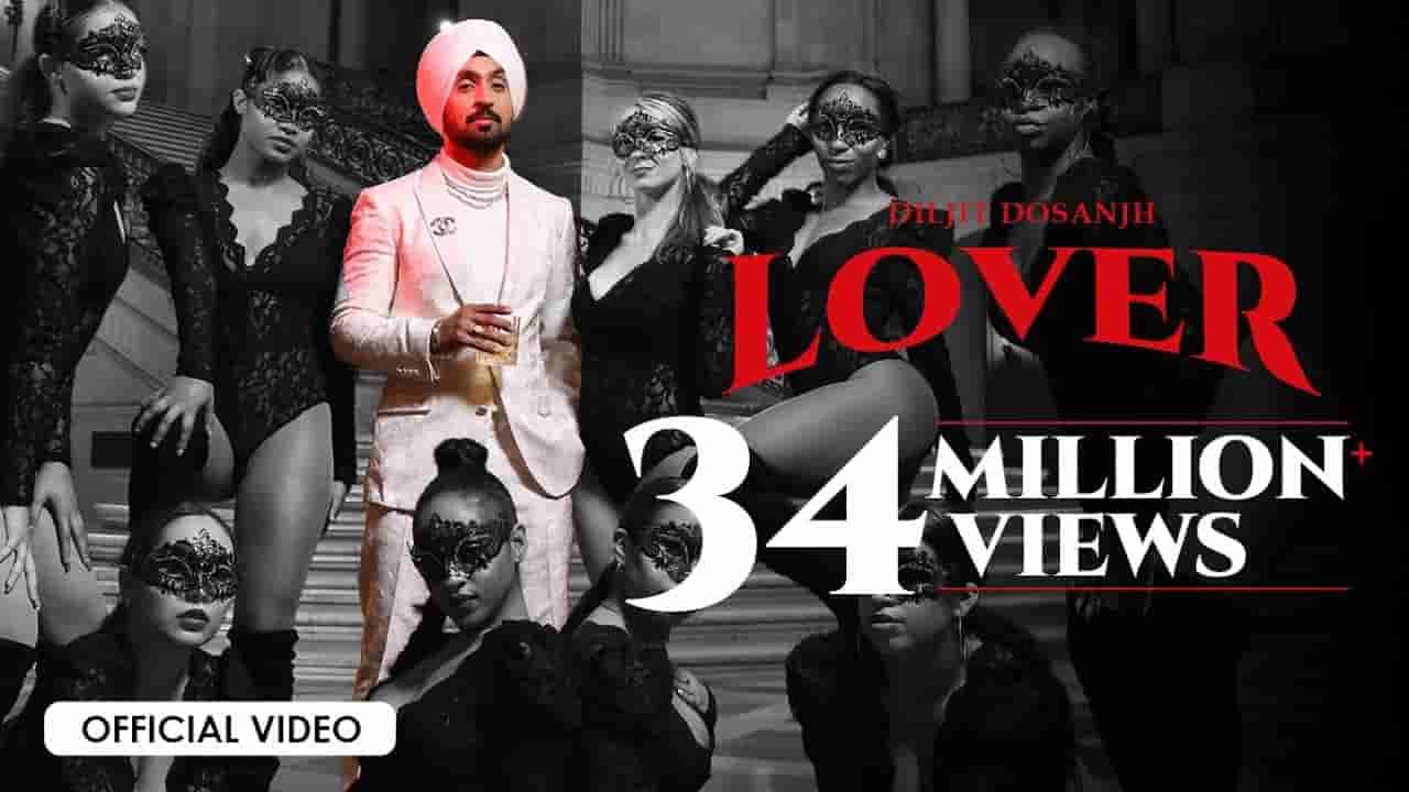 लवर Lover lyrics in Hindi Diljit Dosanjh Moonchild era Punjabi Song