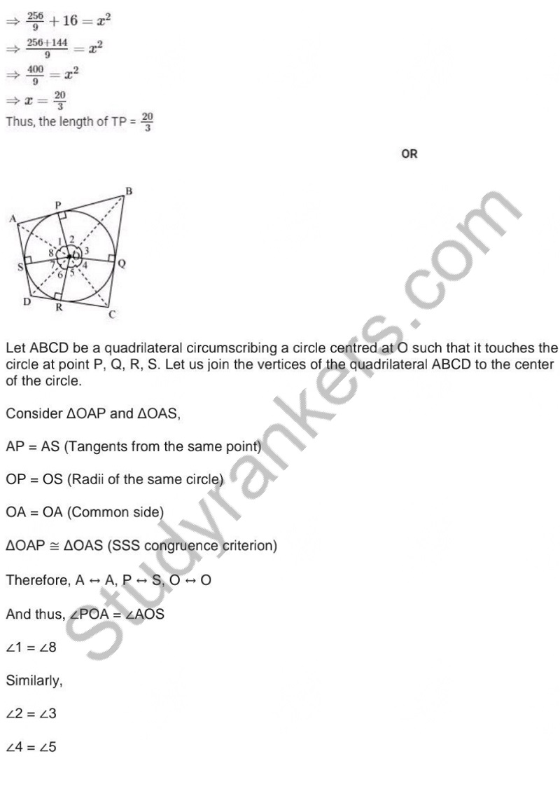 Previous Year Question Paper for CBSE Class 10 Maths 2019 Part 12
