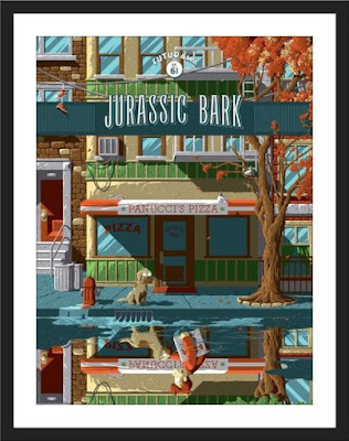 "Futurama ""Jurassic Bark"" Screen Print by Florey x Bottleneck Gallery x Acme Archives"