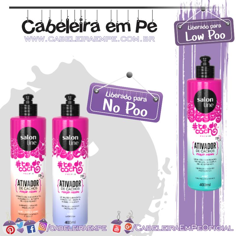 Ativadores de Cachos Tô de Cacho Profix Ondulados, Cacheados & Crespos, 3ABC (liberados para No Poo) & 4ABC (liberado para Low Poo) - Salon Line
