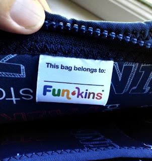 rock paper scissors bag insterior label