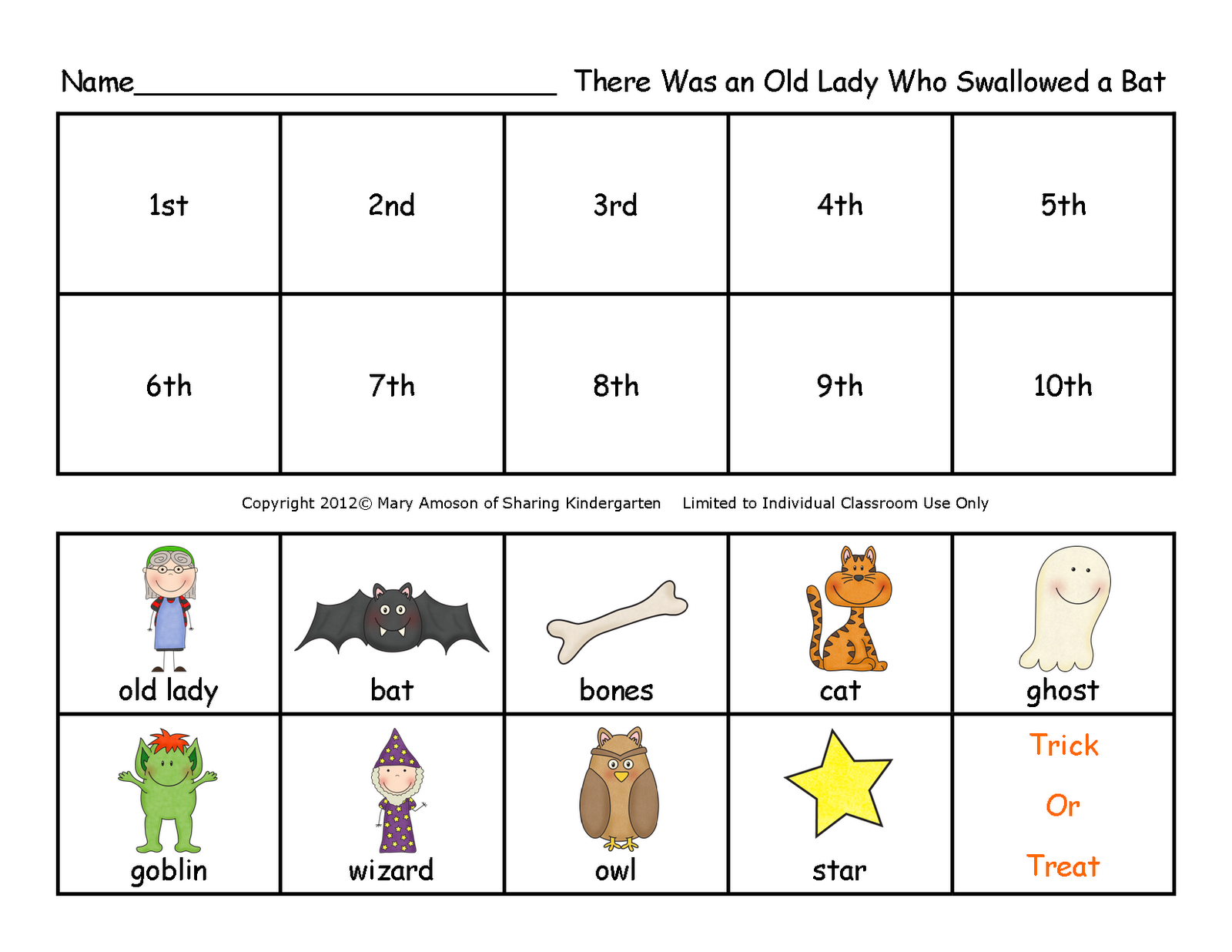 Sharing Kindergarten Freebie Friday
