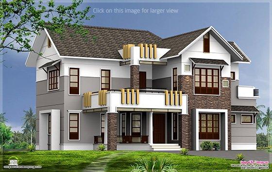 2400 Sq Feet Contemporary Home Elevation Home Kerala Plans