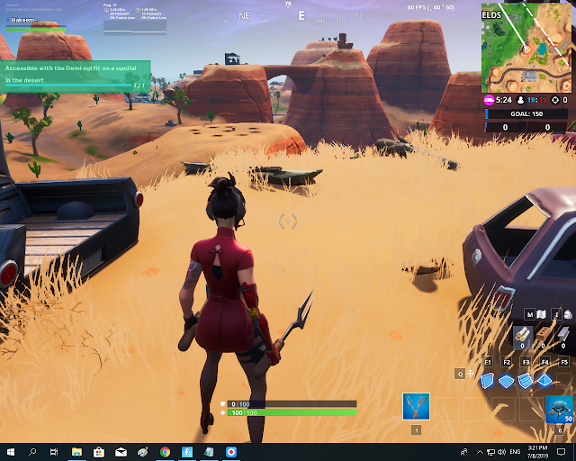 Accessible with the Demi outfit on a sundial in the desert FORTBYTE Mission #40