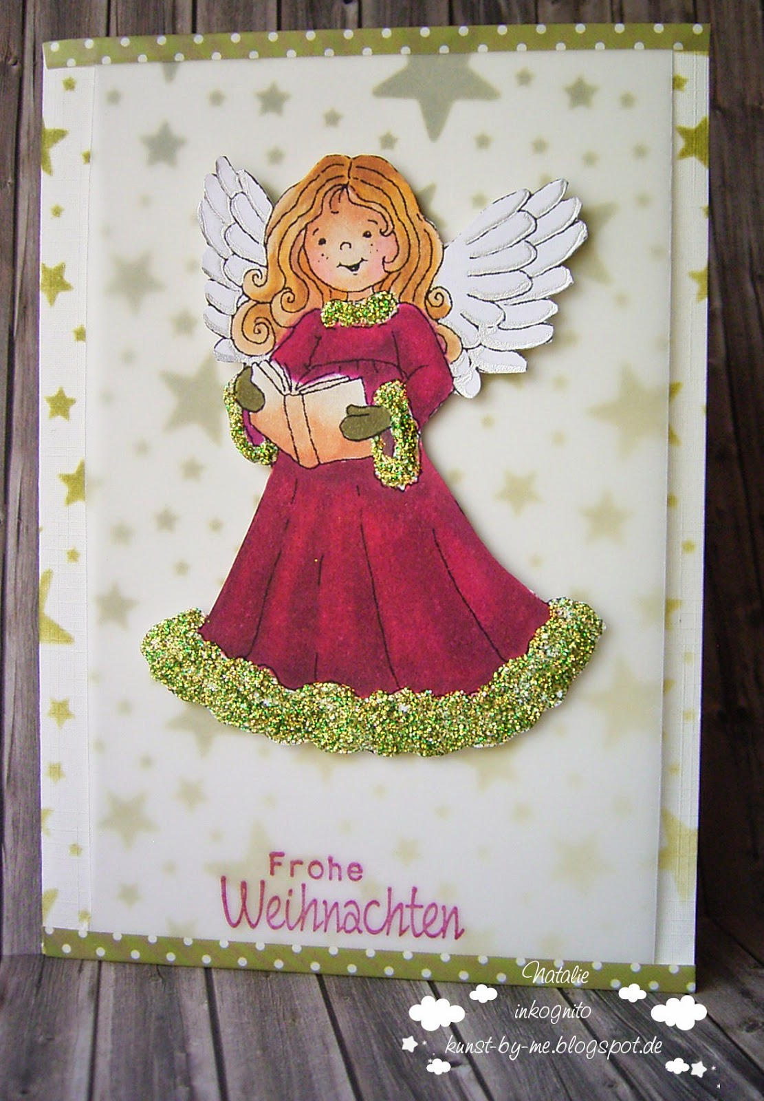 inkognito cards by natalie rot gr ner engel red and green angel. Black Bedroom Furniture Sets. Home Design Ideas