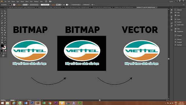 Chuyển bitmap sang vector bằng image trace của illustrator CS6