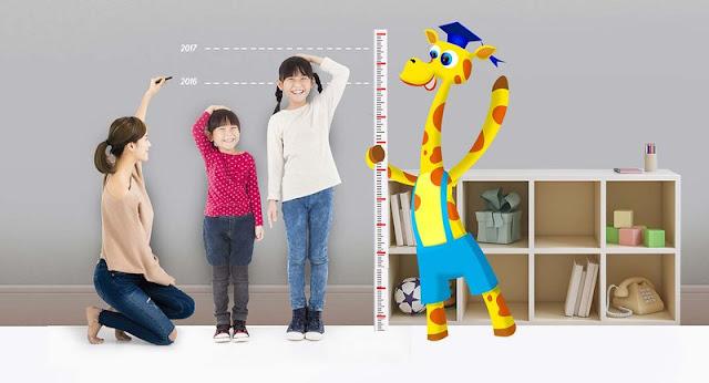 Giúp trẻ em tăng đối đa về chiều cao