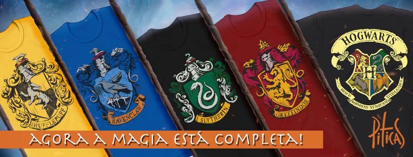 8de49181f Loja Piticas finalmente disponibilizou as camisetas de todas as casas de  Hogwarts. - House Hogwarts