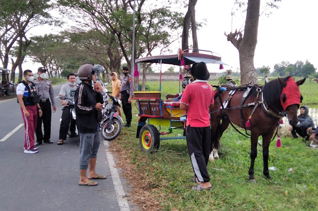 Polisi razia aksi Balap Cidomo di Kota Mataram