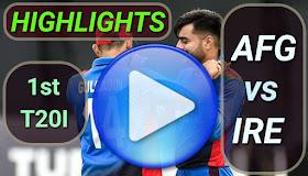 AFG vs IRE 1st T20I 2020