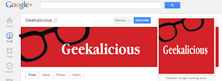 google plus, header, geekalicious