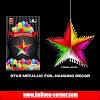 Foil Dekorasi Gantung Bintang Metalik