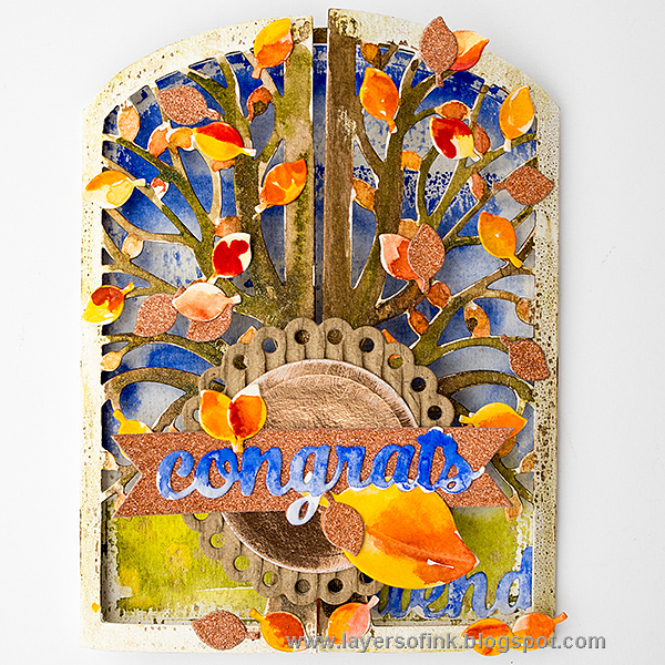 Layers of ink - Autumn Tree Gatefold Card Sizzix Tutorial by Anna-Karin