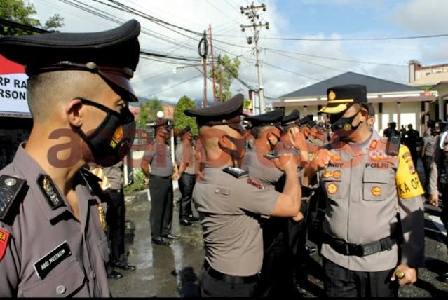 Polres Aceh Lakukan Upacara Korp Raport  Naik Pangkat 104 Personil