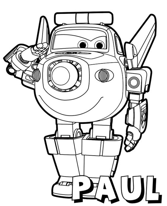 Super wings smart coloring pages 9