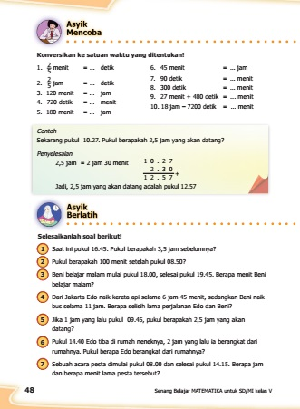 kunci jawaban senang belajar matematika kelas 5 halaman 48
