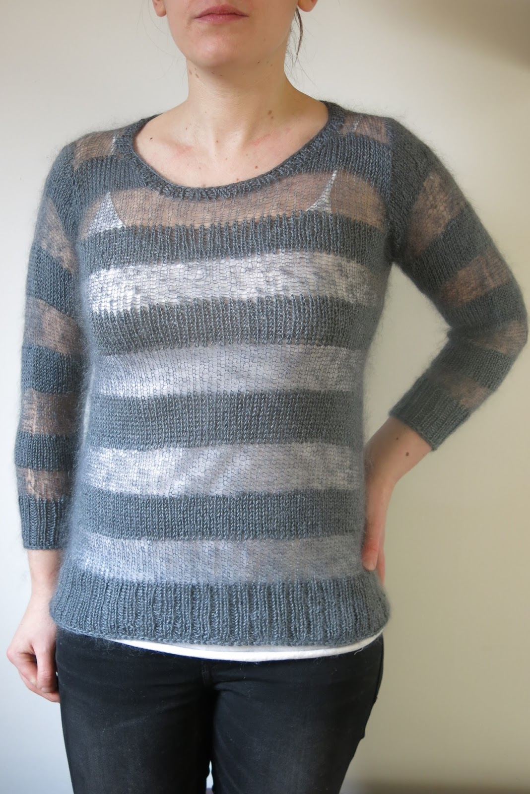 Littletheorem pattern gallery we alternate between airy lightweight mohair silk lace yarn used by itself and held together with a buttery soft 4ply blend of merino and bankloansurffo Gallery