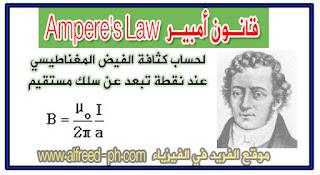 قانون أمبير Ampere Law ، كثافة الفيض المغناطيسي