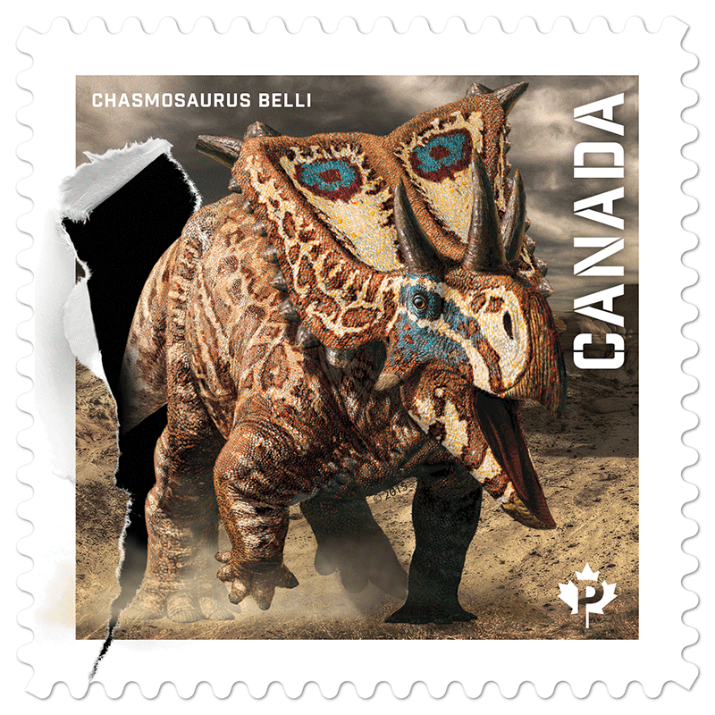 Dinosaurs Canada Post Permanent Stamps Series 2015 Issue Canadian Philately