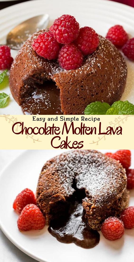 Chocolate Molten Lava Cakes #desserts #cakerecipe #chocolate #fingerfood #easy