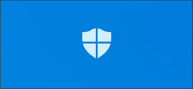 شاشة البداية في تطبيق أمان Windows Defender