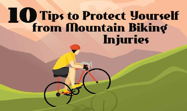 10 Tips to Protect Yourself From Mountain Biking Injuries #infographic