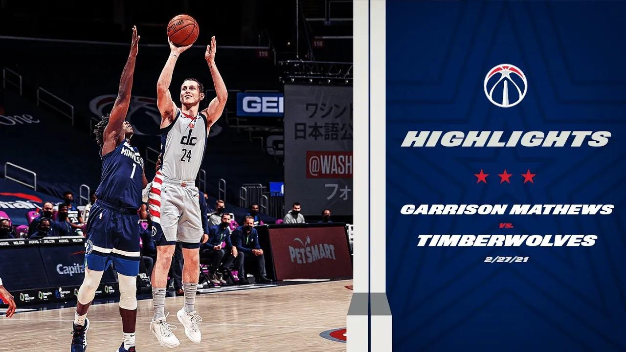 Garrison Mathews 18pts 9reb vs MIN | February 27, 2021 | 2020-21 NBA Season