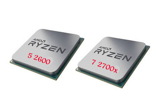 معالجات اي ام دي رايزن Ryzen 7 2700X و Ryzen 5 2600 القادمة