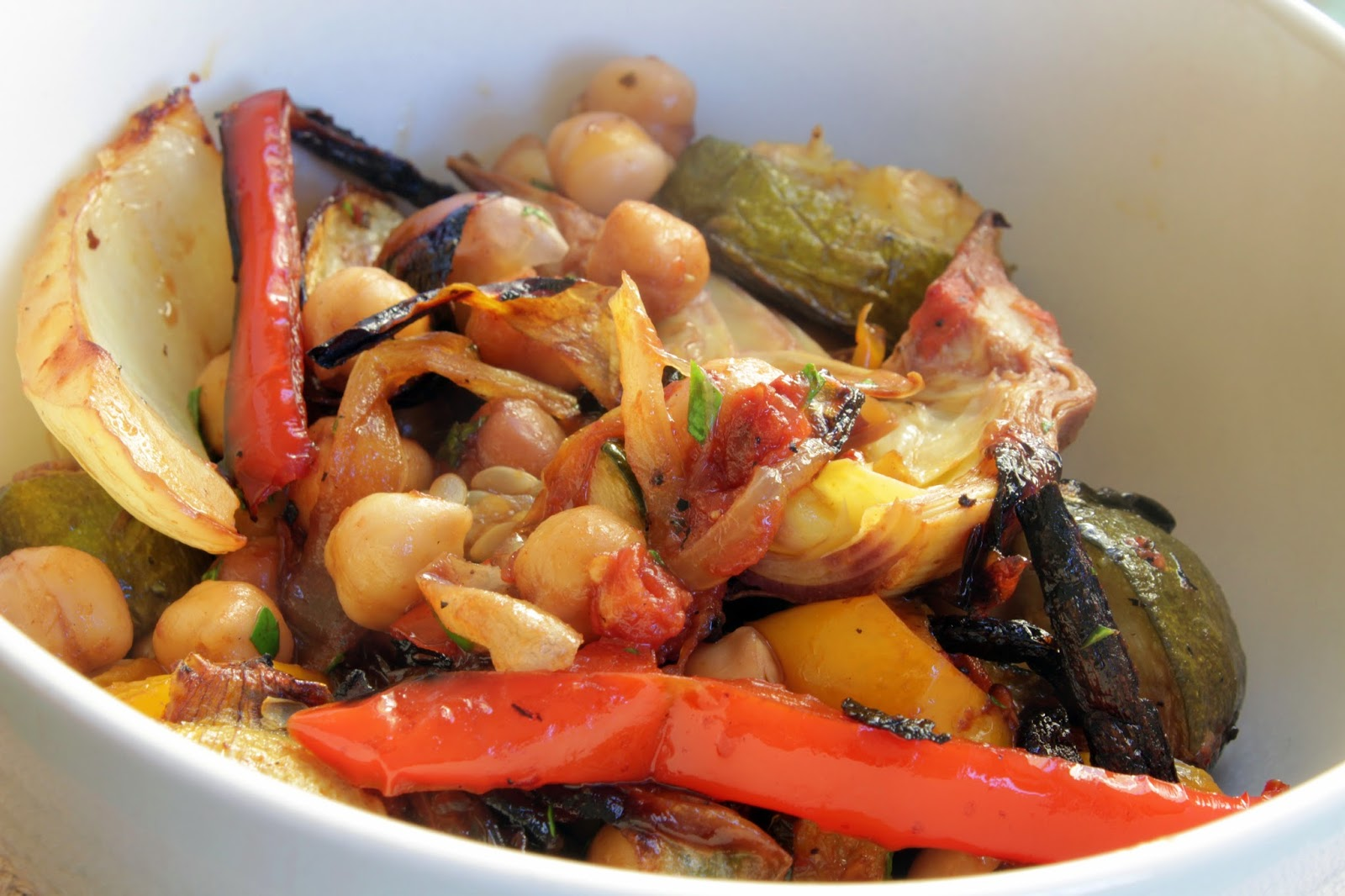 Fennel and Chickpea oven roasted ratatouille