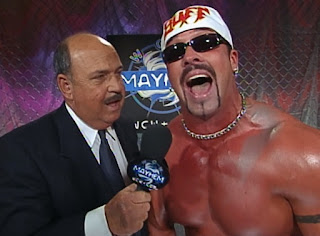 WCW Mayhem 2000 - Mean Gene interviewed Buff Bagwell