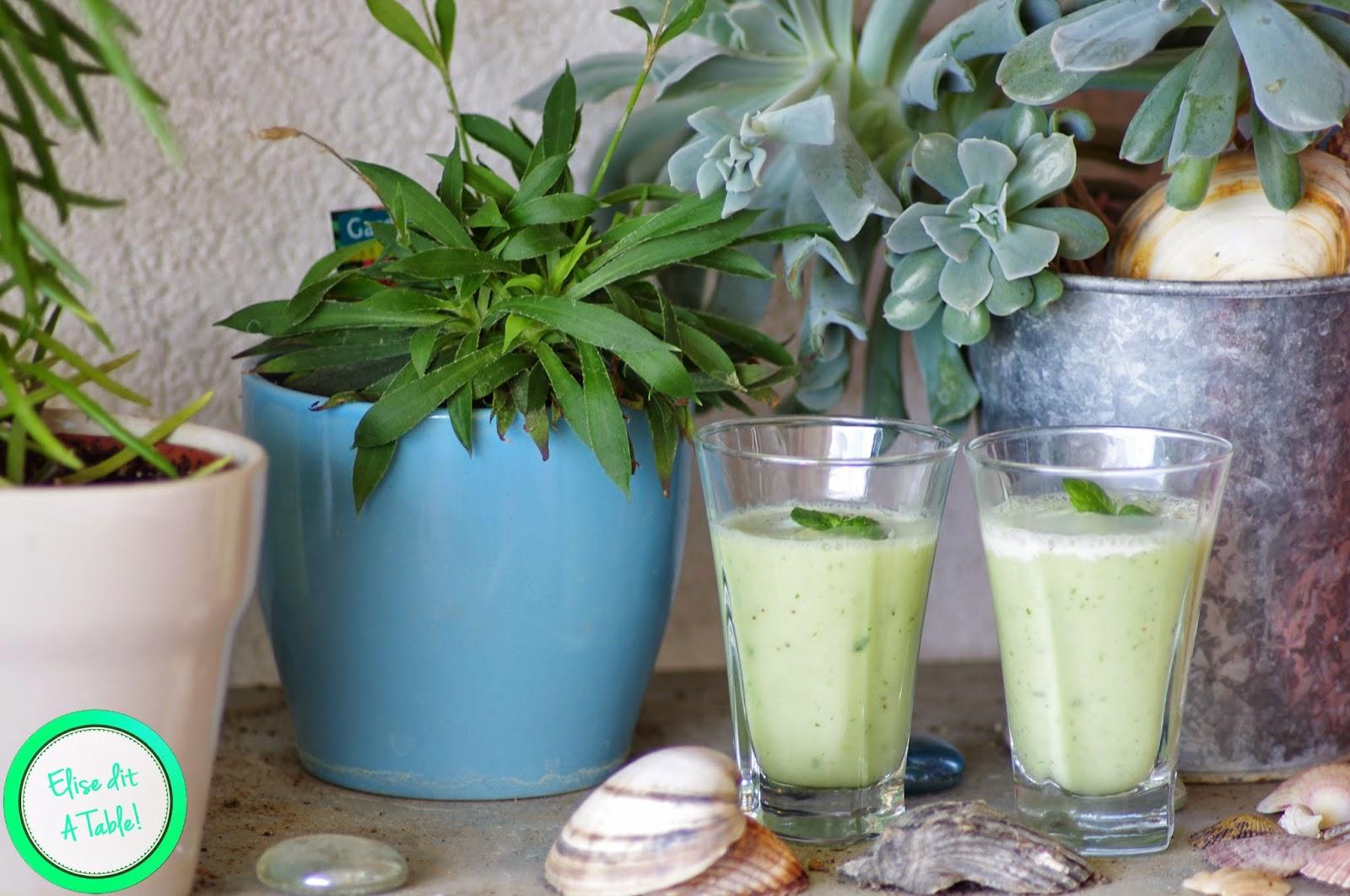 recette verrine de soupe concombre menthe blog cuisine. Black Bedroom Furniture Sets. Home Design Ideas