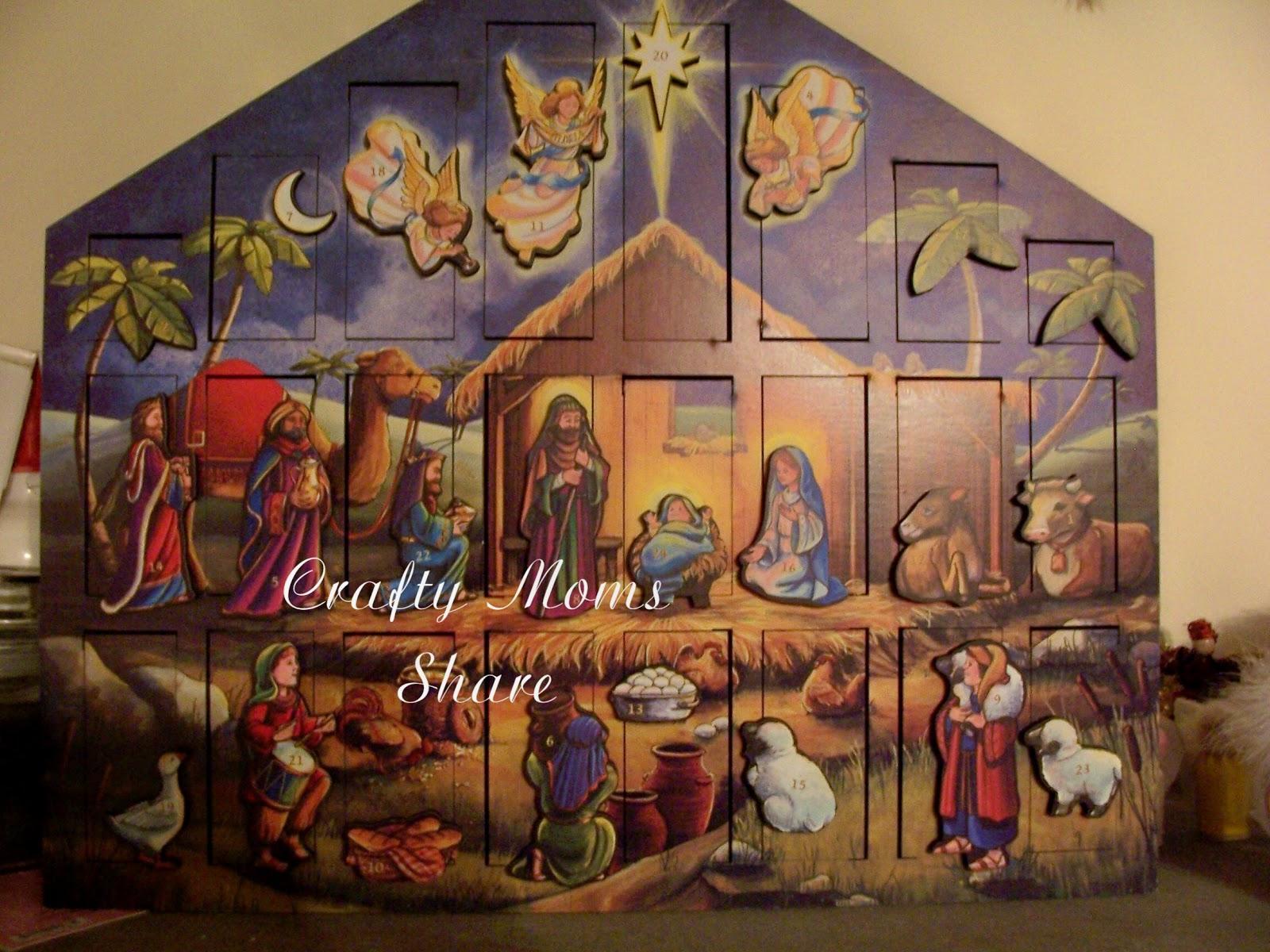 Religious Advent Calendar Ideas : Displaying nativity advent calendar pattern g christmas