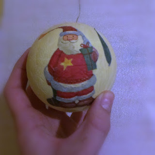 jak zrobić bombkę decupage, diy, zabawa z dzieckiem , święta, boże narodzenie, dziecko, hande made