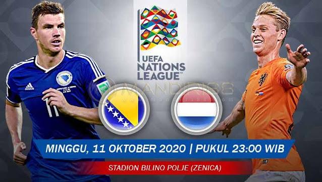 Prediksi Bosnia Herzegovina Vs Belanda, Minggu 11 Oktober 2020 Pukul 23.00 WIB @ Mola TV