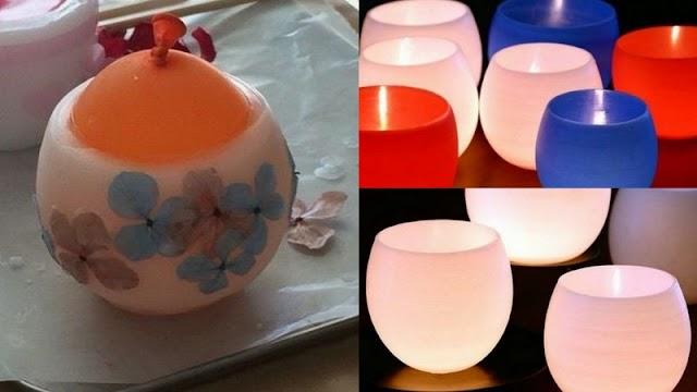 DIY Κηροπήγια από ...Κερί