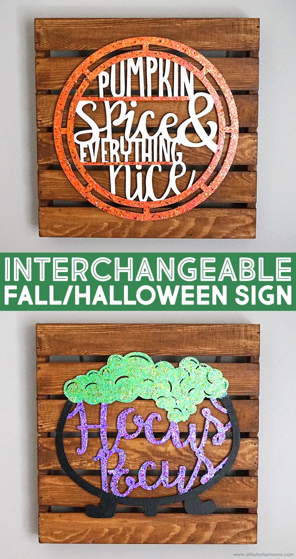 Interchangeable Fall/Halloween Sign