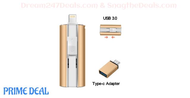 55% OFF 128GB  USB 3.0  iPhone Flash Drive