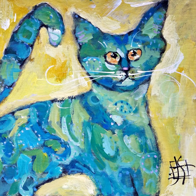CAT #22 by Joanie Springer Crazy Town #30cats 30 Cats in 30 days Challenge