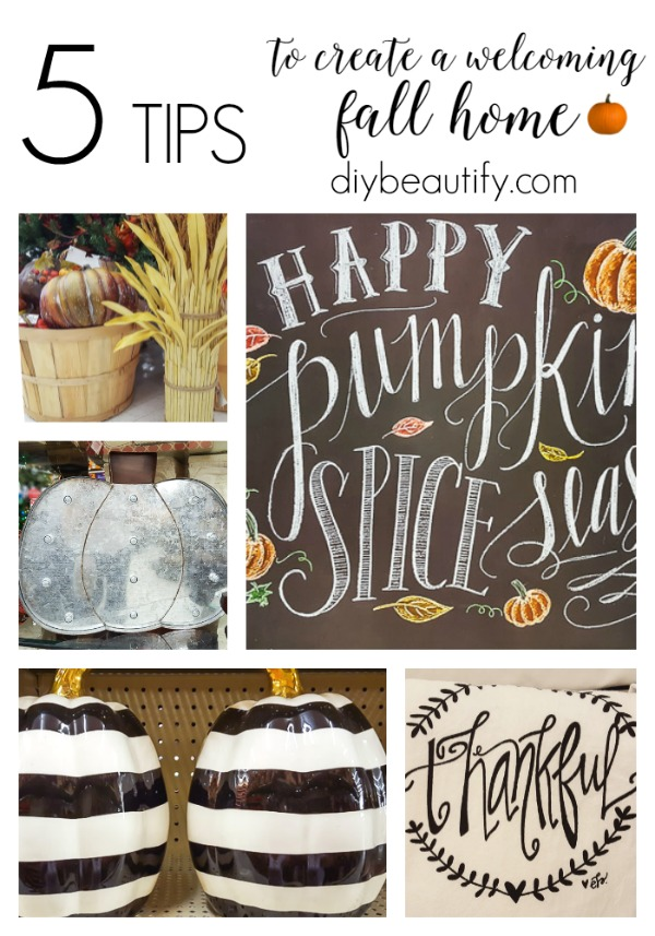 fall decorating with Hobby Lobby
