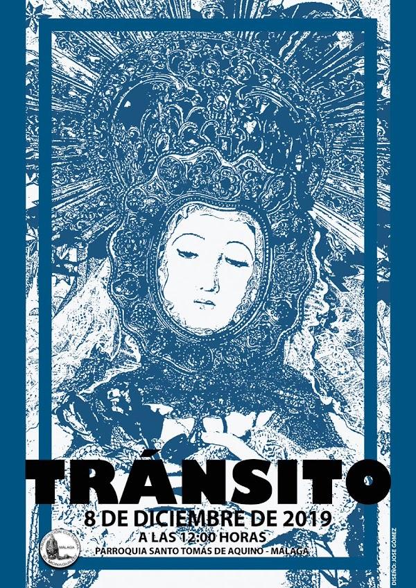 Cartel salida en Rosario de Ntra.Sra. del Transito de Málaga