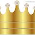 Corona Dorada en Azul y Brillantes: Corona para Bodas para Imprimir Gratis.