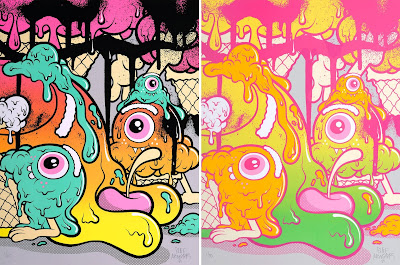 """Euphoria Screen Print by Buff Monster"
