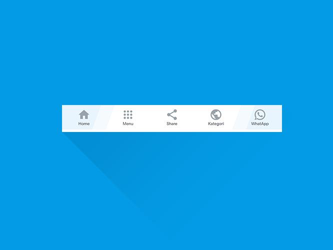 Cara Membuat Bottom Menu di Blog atau Wordpress Seperti Aplikasi Gojek