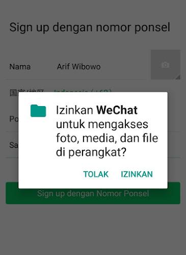 Izinkan WeChat
