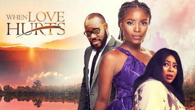 "Kimtrendnaija brings to you an amazing Nigerian movie y'all need to watch and this movie is titled ""When Love Hurts""."